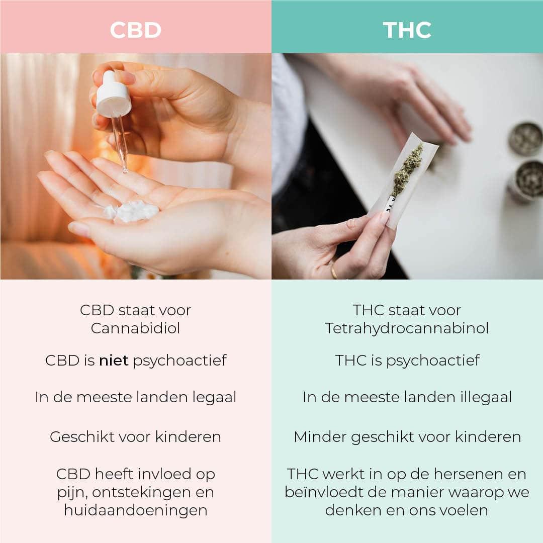 het verschil tussen CBD en THC